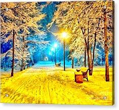 Winter Street Acrylic Print