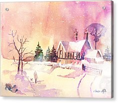 Winter Stroll Acrylic Print by Arline Wagner