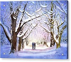 Winter Stroll Acrylic Print by Leslie Redhead