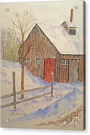 Winter Sugar House Acrylic Print
