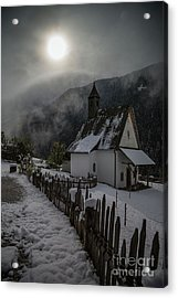 Acrylic Print featuring the photograph Winter Sun by Eva Lechner