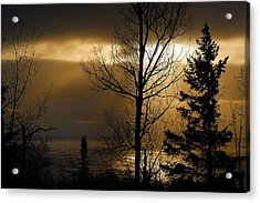 Winter Sunrise 1 Acrylic Print by Sebastian Musial