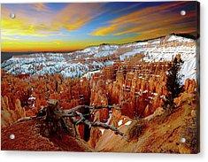 Winter Sunrise At Bryce Acrylic Print