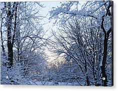 Winter Sunrise Acrylic Print by Dimitri Meimaris