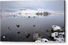 Acrylic Print featuring the photograph Winter Sunrise Glencoe by Grant Glendinning
