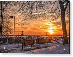 Winter Sunrise In The Park Acrylic Print