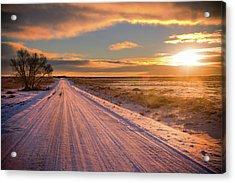 Winter Sunrise Light Acrylic Print by John De Bord