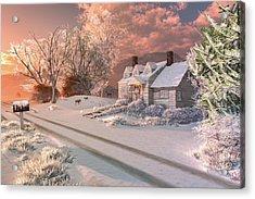 Winter Sunrise Acrylic Print by Mary Almond