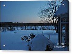Acrylic Print featuring the photograph Winter Sunrise On Demond Pond by John Black