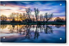 Winter Sunrise Over The Ouse Acrylic Print