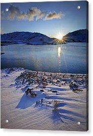 Winter Sunrise Acrylic Print by Richard Outram