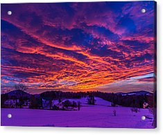 Winter Sunrise Acrylic Print by Tim Kirchoff