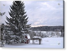 Acrylic Print featuring the photograph Winter Sunset - 1 by John Black