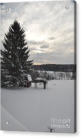 Acrylic Print featuring the photograph Winter Sunset - 2 by John Black