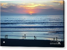 Acrylic Print featuring the photograph Winter Sunset At Carmel Beach by Susan Wiedmann