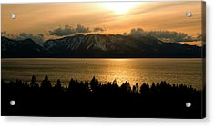 Winter Sunset At Lake Tahoe Acrylic Print