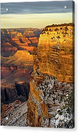 Winter Sunset At The Grand Canyon Acrylic Print
