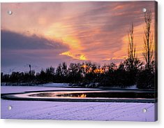 Winter Sunset Acrylic Print