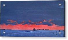 Winter Sunset Acrylic Print by Denise   Hoff