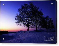 Winter Sunset Acrylic Print by Hannes Cmarits