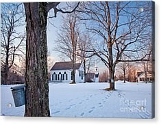 Winter Sunset In New Salem Acrylic Print