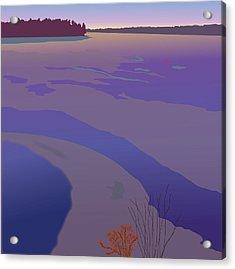 Winter Sunset Acrylic Print by Marian Federspiel