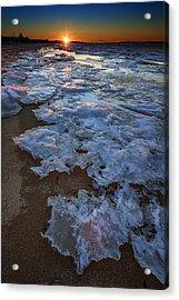 Winter Sunset On Fire Island Acrylic Print by Rick Berk