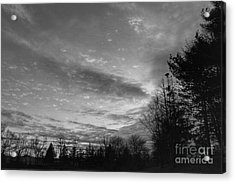 Winter Sunset On Woodland Lake Acrylic Print