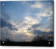Winter Sunset One Acrylic Print by Ana Villaronga
