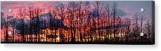 Acrylic Print featuring the photograph Winter Sunset Panorama by Francesa Miller