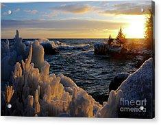 Winter Sunset Acrylic Print by Sandra Updyke