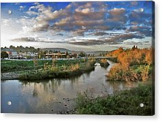 Acrylic Print featuring the painting Winter Sunset Santa Cruz by Larry Darnell
