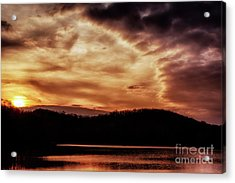 Acrylic Print featuring the photograph Winter Sunset by Thomas R Fletcher