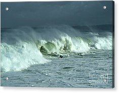 Winter Surf On Monterey Bay Acrylic Print