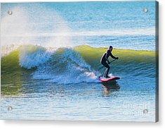 Winter Surfing In Aberystwyth Acrylic Print