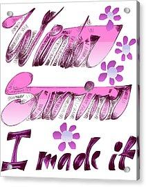 Winter Survivor Acrylic Print