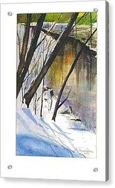 Winter Tale Acrylic Print by John Smeulders