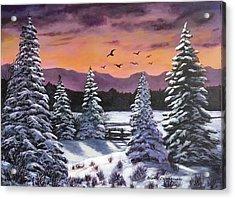 Winter Time Again Acrylic Print