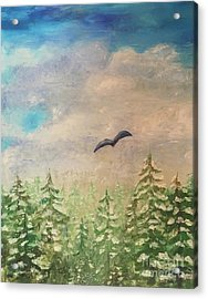 Winter To Spring Acrylic Print