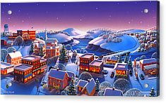 Winter Town Acrylic Print by Robin Moline
