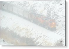 Winter Train Acrylic Print