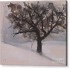 Winter Tree Acrylic Print by Laurie Rohner