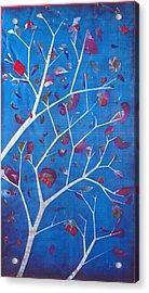 Winter Tree Acrylic Print by Rick Silas