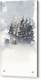 Winter Trees Acrylic Print by Jan Anderson