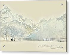 Winter Treescape Acrylic Print