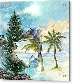 Acrylic Print featuring the digital art Winter Vacation by Darren Cannell