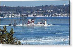 Winter View Of Crossover Island Acrylic Print