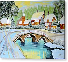 Winter Village Acrylic Print