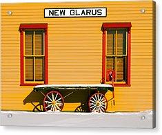 Winter Wagon Acrylic Print by Todd Klassy