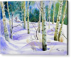 Winter Walk Acrylic Print by Gail Vass